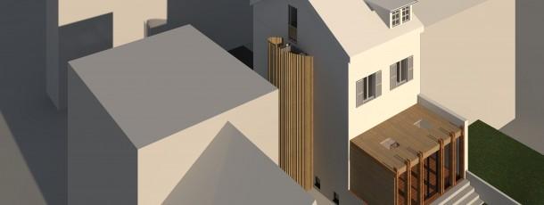 0020 Ajout ascenseur extérieur & véranda Wies étude de faisabilité